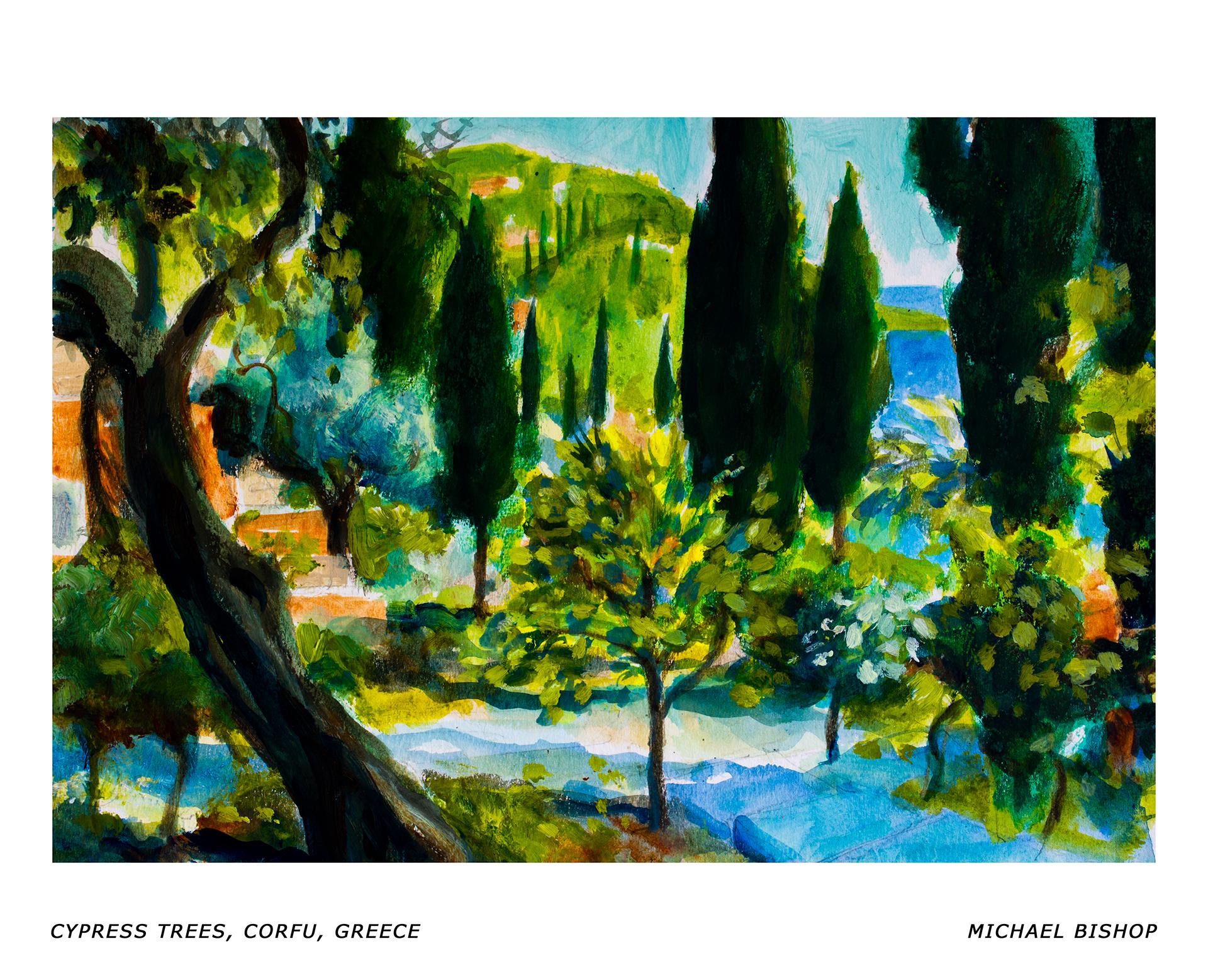 86_RA_MB_Cypress Trees, Corfu, Greece