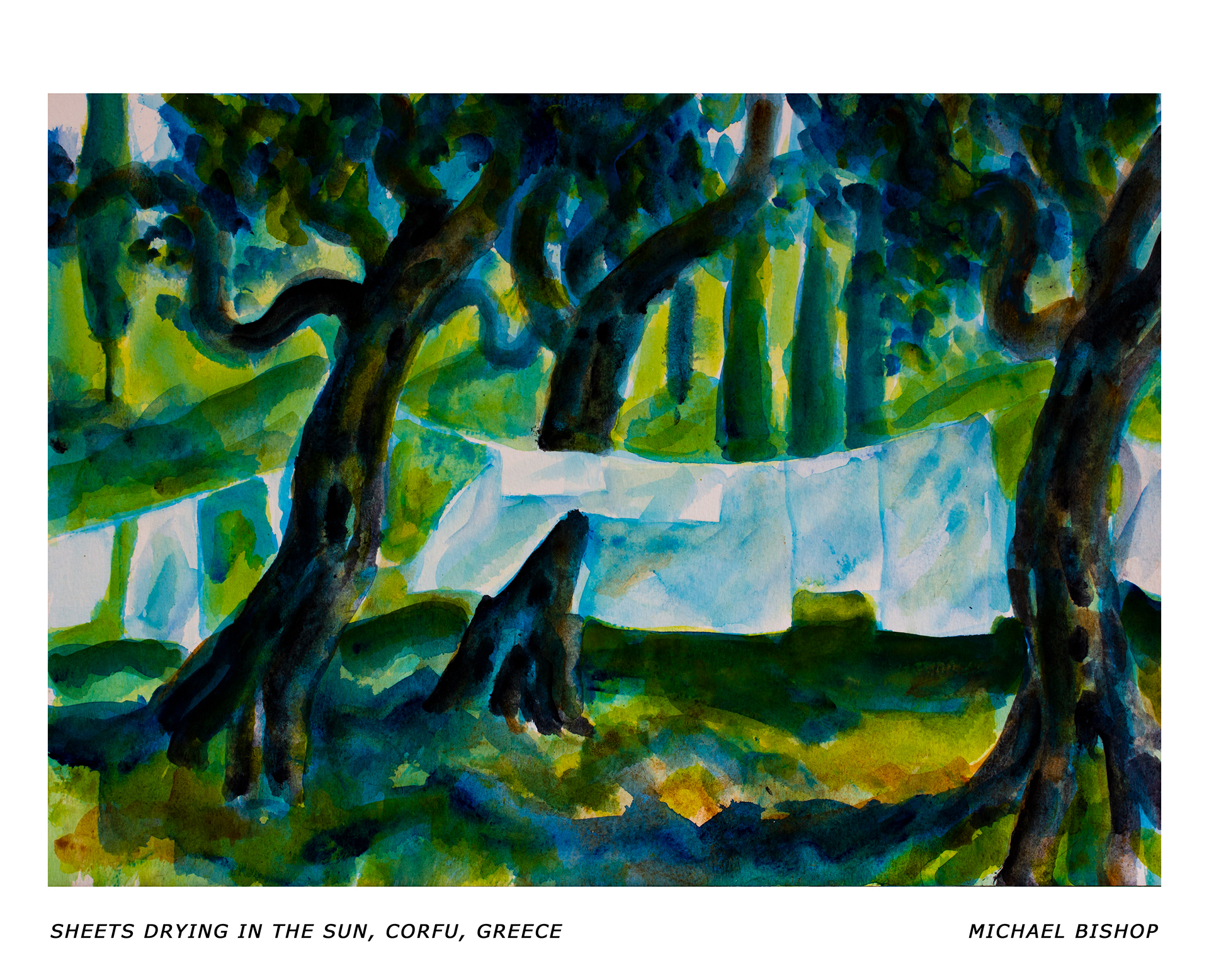98_RA_MB_Sheets Drying in the Sun, Corfu, Greece
